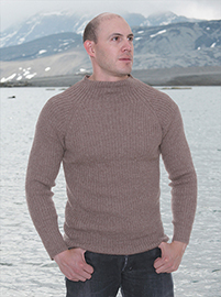Clear Brown Alpaca Sweater-  Crew Neck