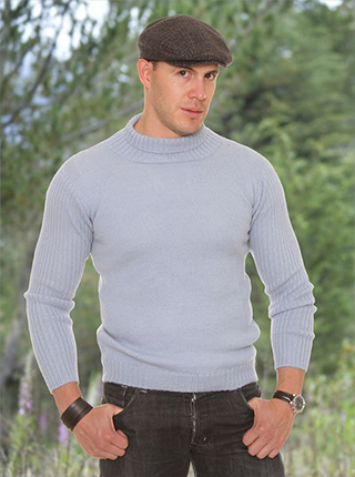 Gray Alpaca Sweater - High Neck