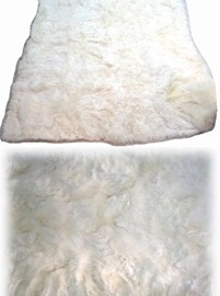 White Alpaca Rug (Single Size)