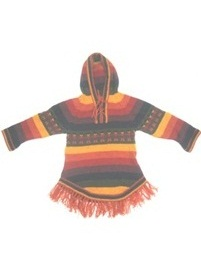 Multicolored Baby Alpaca Sweater for Kids (6-7 years)