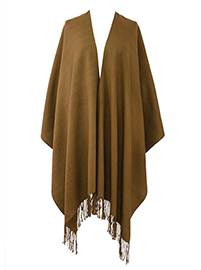 Sleek Alpaca Ruana - Brown