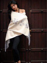 White Deluxe Shawl