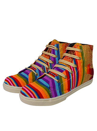 Multicolored awayo shoes for her