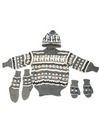 Gray Alpaca 4 Piece Toddler Set