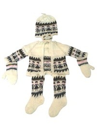 Beige Alpaca 4 Piece Toddler Set