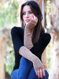 Beige Long Gloves