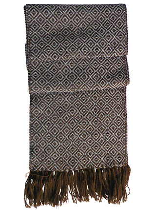 Rhombus Scarf - Brown