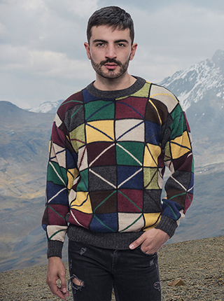 Sweater - Multicolor Squares