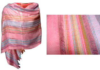 Striped Silk Shawl
